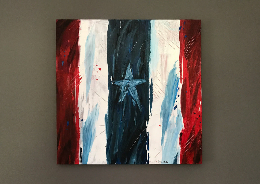 Captain America style painting