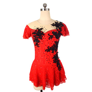 Carmen Lace Figure Skating Dress - Joyce + Co. Competition Figure Skating Dress