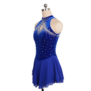 Jeweled Loop Velvet Skating Dress - Joyce + Co. Ice Skating Dresses Custom Made