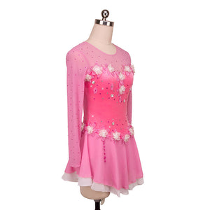 Pretty in Pink Sweetheart Figure Skating Dress - Joyce + Co.
