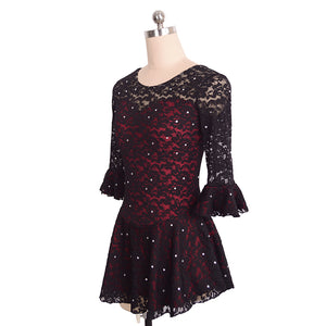 Lovely in Lace Figure Skating Dress - Joyce + Co.