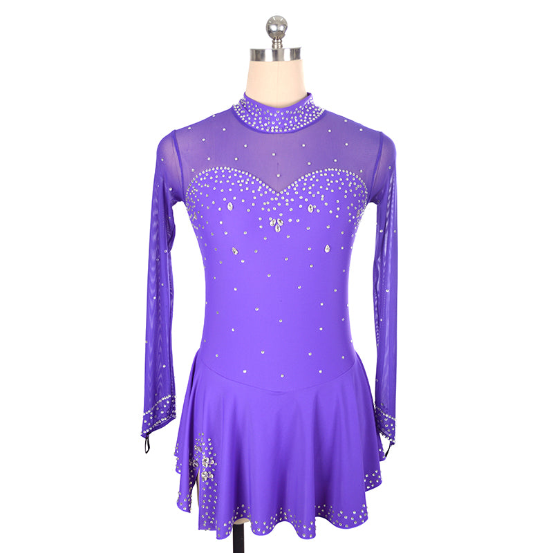 Split Skirt Sweetheart Figure Skating Dress - Joyce + Co.