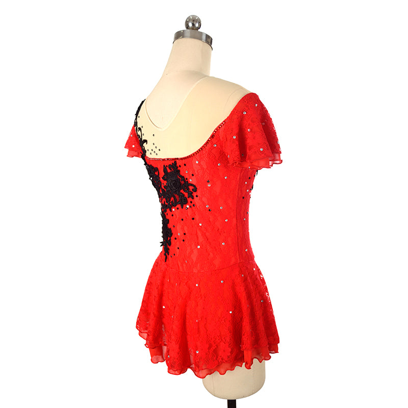 Carmen Lace Figure Skating Dress - Joyce + Co. Competition Ice Skating Dress