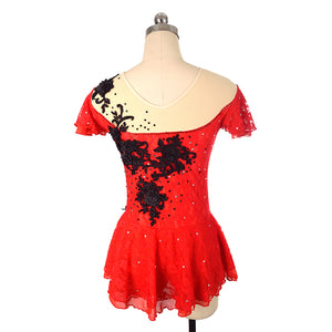 Carmen Lace Figure Skating Dress - Joyce + Co. Designer Figure Skating Dress
