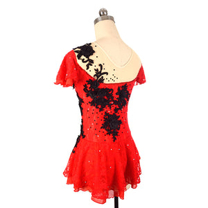 Carmen Lace Figure Skating Dress - Joyce + Co. Custom Figure Skating Dress