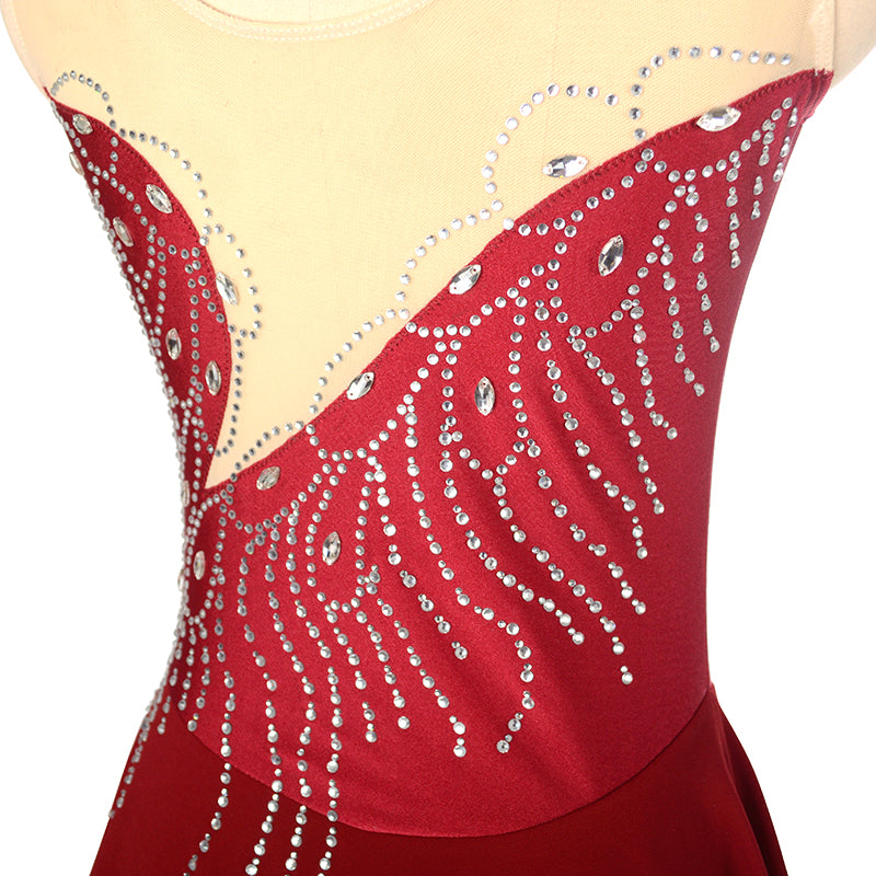 Phoenix Feather Figure Skating Dress- Joyce + Co. Figure Skating Designs