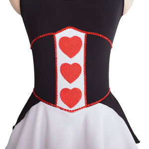 Queen of Hearts Figure Skating Dress | Joyce + Co. Premier Figure Skating Dresses