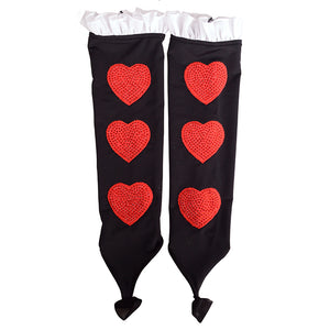 Queen of Hearts Figure Skating Wristlet Gloves | Joyce + Co. Premier Figure Skating Dresses