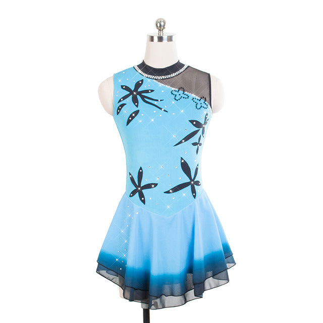 South Pacific Figure Skating Dress - Joyce + Co. Figure Skating Designs- Custom Skating Dresses