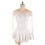 Long Sleeved Diamond Figure Skating Dress