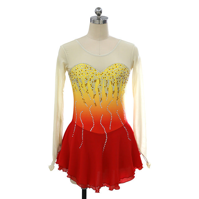Burning Ember Figure Skating Dress