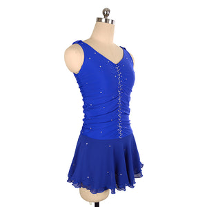 Vertical Ruche Figure Skating Dress - Joyce + Co. Figure Skating Dresse Designs