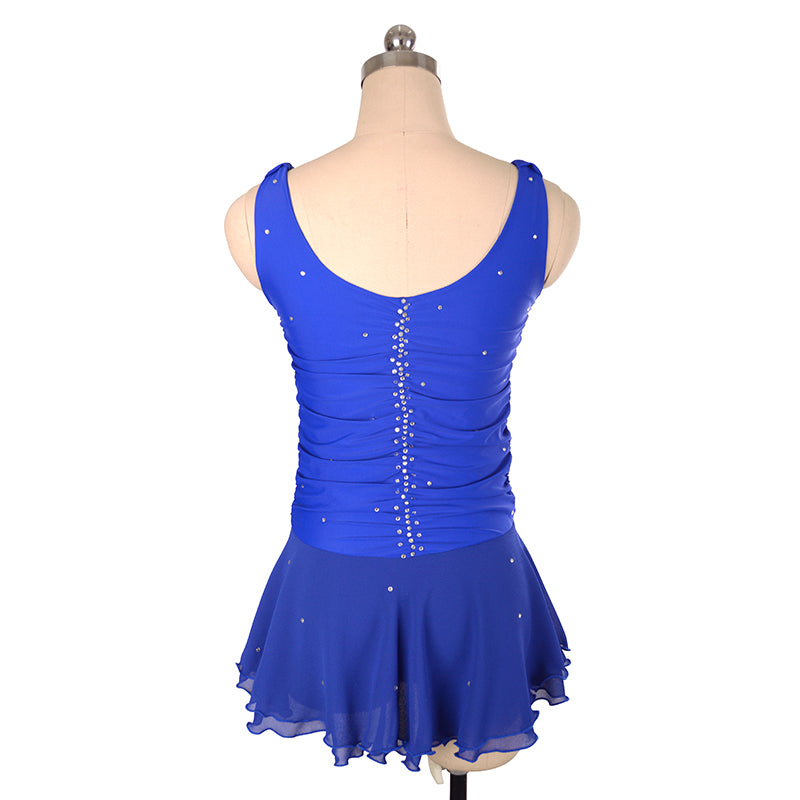 Vertical Ruche Figure Skating Dress - Joyce + Co. Figure Skating Dresses