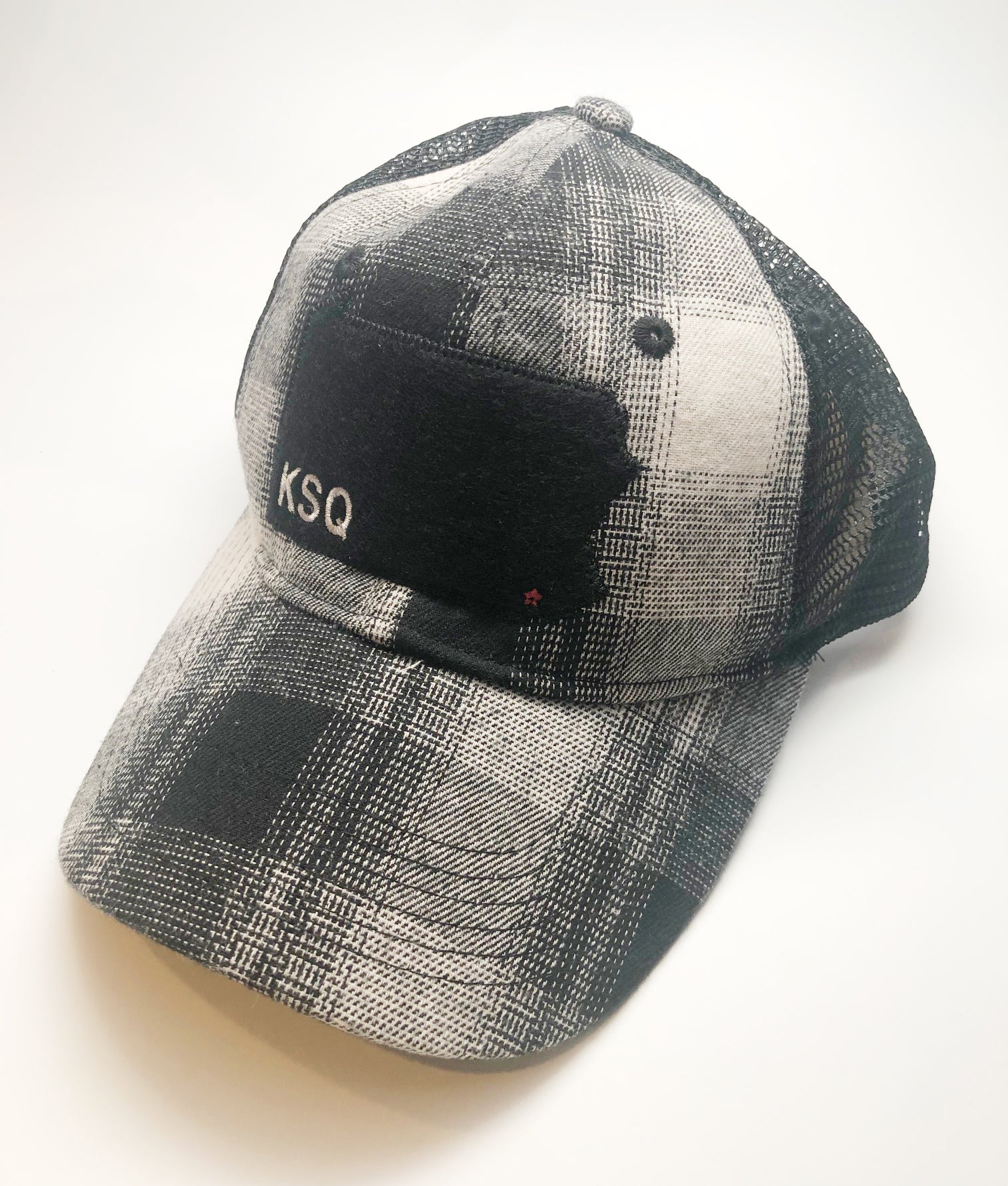 Kennett Square Black Plaid Vintage Snap Back Hat
