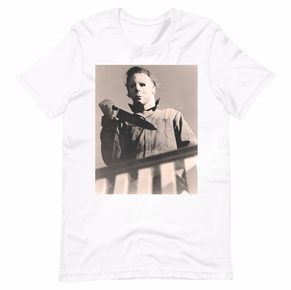 Michael Myers Halloween 1978 Knife on the Stairs Shirt