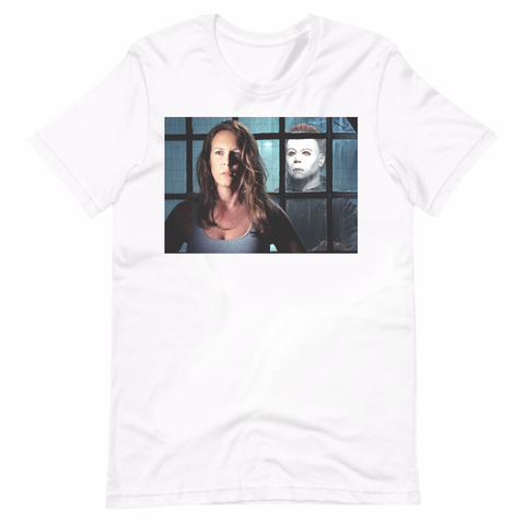 Michael Myers Behind Laurie Strode Halloween Movie Shirt