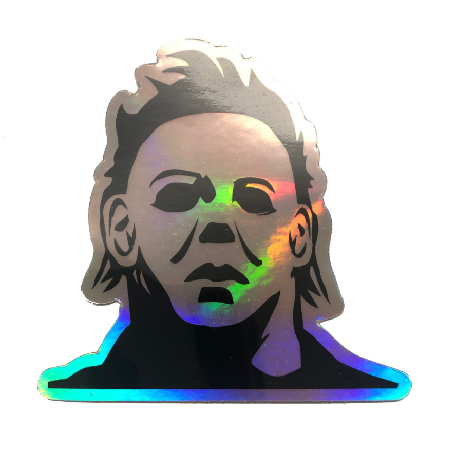 Halloween 1978 Michael Myers Silver Hologram Sticker