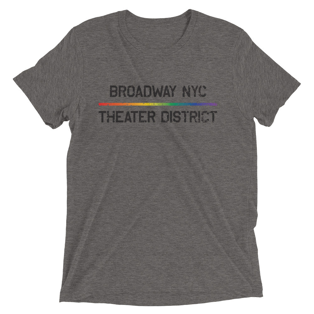 NYC Broadway Theater District Retro Rainbow Fade Shirt