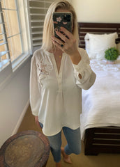 Anne Fontaine White Blouse Size 6
