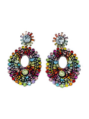 Dannijo Rainbow Starburst Crystal Earrings