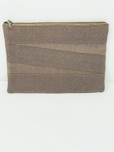 Herve Leger Nude Soft Clutch