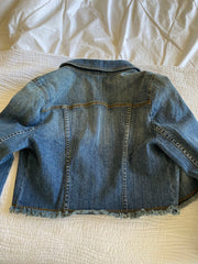 Max Azria Cropped Jean Jacket - Size Medium