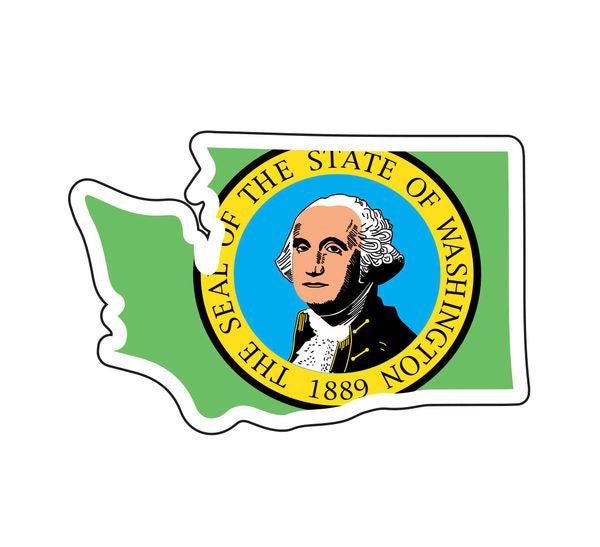 Sticker - Washington State Flag in WA