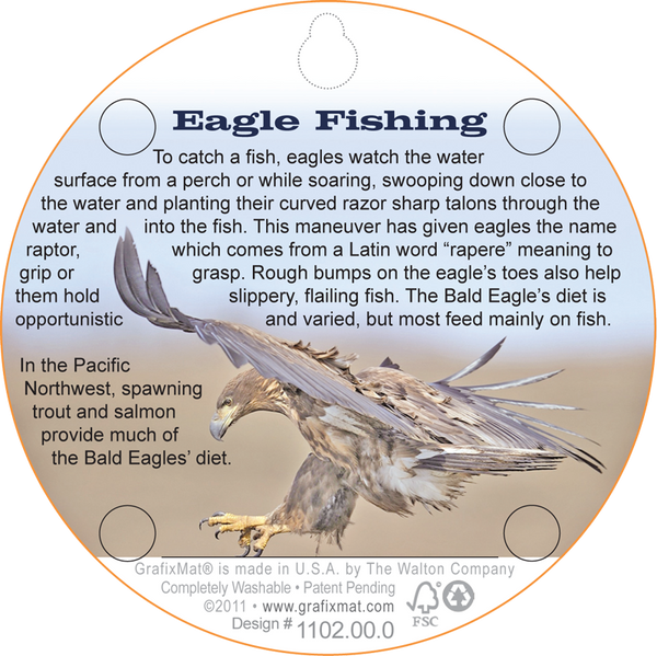 Coaster - Eagle with Fish - Cork