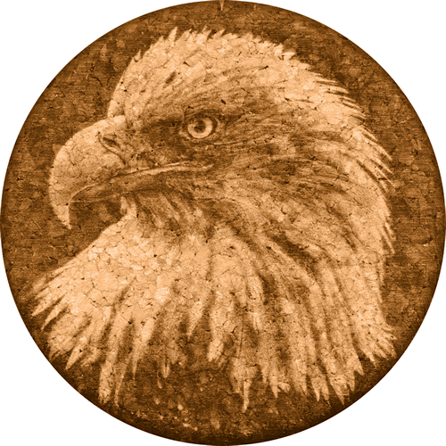 Coaster - Bald Eagle - Cork