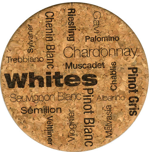 Coaster - White Wine Soothes The Soul And Spirit - Cork