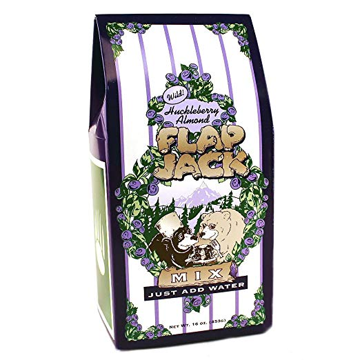 Baking Mix - Wild Huckleberry Almond Flap Jack Mix - 16oz Tote Box