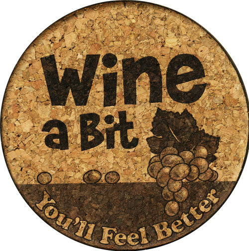 Coaster - Wine A Bit - Cork