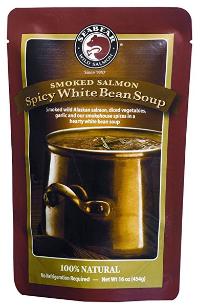Soup - Spicy White Bean Soup w/Smoked Salmon - 12 oz