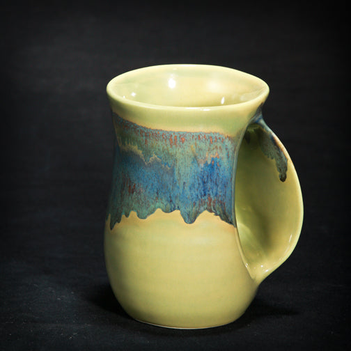 Mug - Handwarmer Mug - Misty Green LH Clay