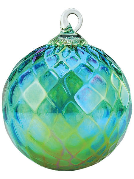 Ornament - Emerald (MAY) Diamond Facet - Green Glass 3