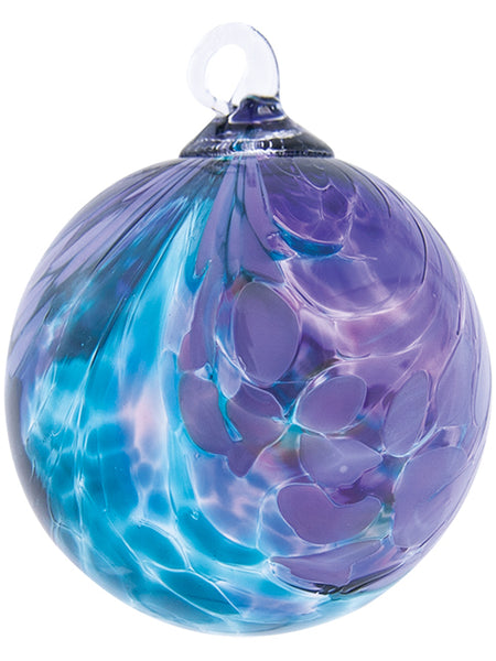 Ornament - Classic - Teal Fantasy Orchid Glass 3