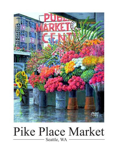 Print - Pike Place Flowers
