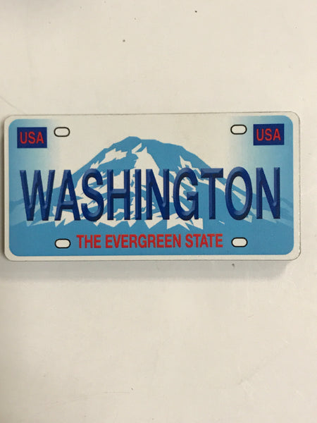 Washington License Plate Fiberboard Magnet