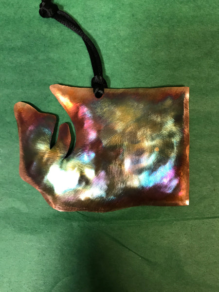 Ornament - Washington State - Handcrafted Copper