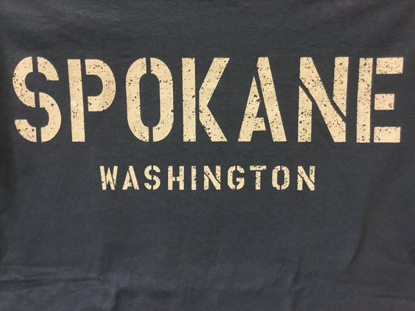 T-Shirt - Spokane Washington Stencil Print