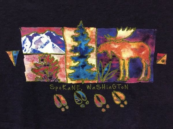 T-Shirt - 4 Paintings and Moose Tracks - Womens'