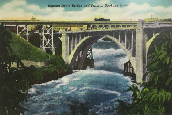 Card - Monroe Street Bridge and Falls Spokane River - 5x7