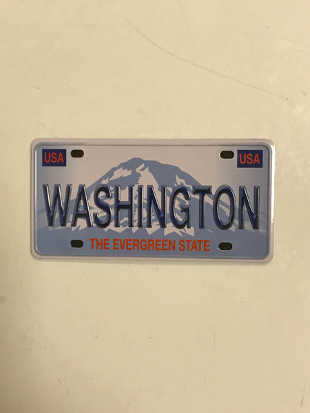 WA License Plate Rect Metal Magnet