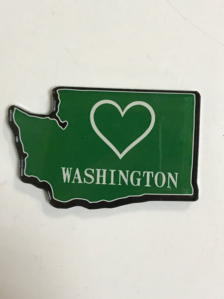 Washington Heart Cutout Magnet
