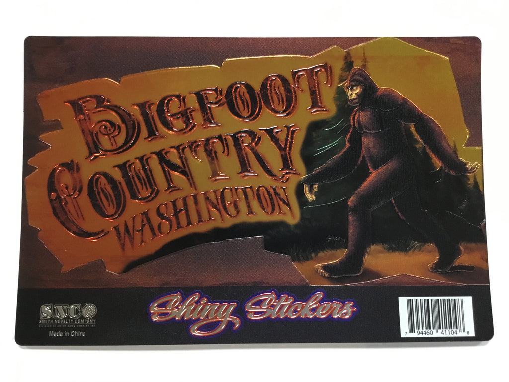 Sticker - WA Bigfoot Country Foil Sticker