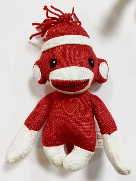Colors of Love Sock Monkey - Red - 6""