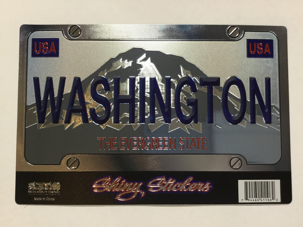 Sticker - WA License Plate Foil Sticker