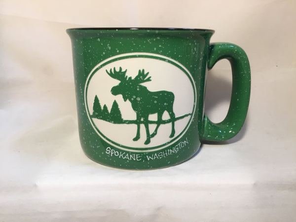 Mug - Moose - Camp Green