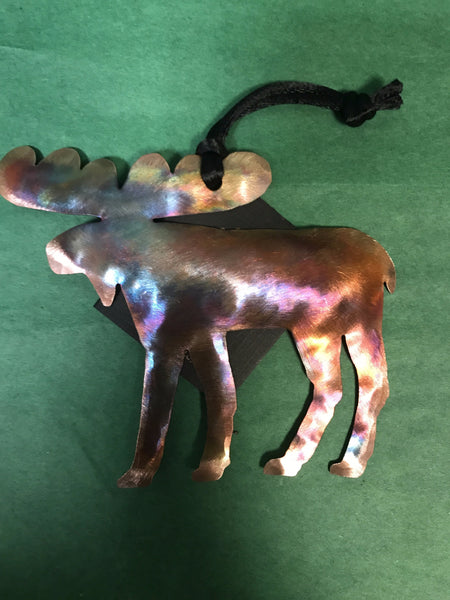 Ornament - Moose - Handcrafted Copper