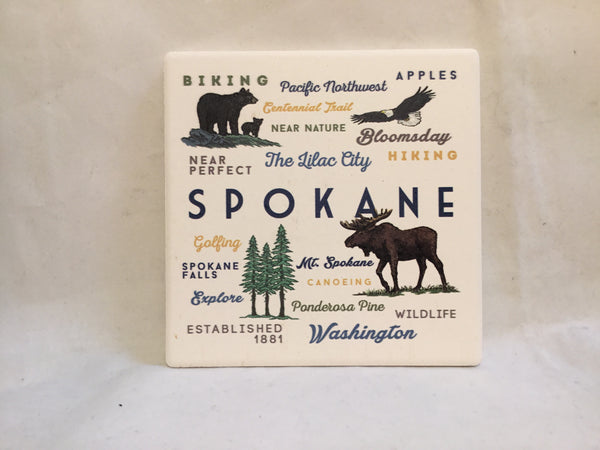 Coaster - Spokane Typography & Icons - Ceramic